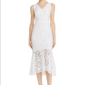 NWT Nanette Lepore Lace Midi Dress - Optic White